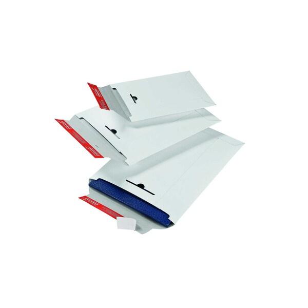 ColomPac Versandtasche C4+ selbstklebend weiß ohne Fenster Vollpappe