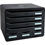 ExacomPTA Schubladenbox STORE-BOX Mini Nr. 307714D. 7 Schübe schwarz