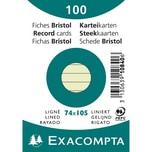 ExacomPTA Karteikarte A7 liniert grün Nr. 10840SE. PA= 100Stk