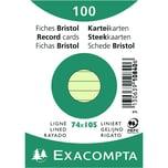 ExacomPTA Karteikarte A7 liniert grün Nr. 10840SE PA 100 Stück