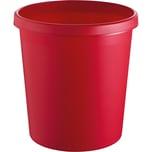 Helit Papierkorb rot 18 Liter Nr. H6105825 mit Griffrand Höhe 32cm