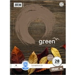 Ursus Collegeblock Green A4 kariert Nr. 608510028 100 Blatt