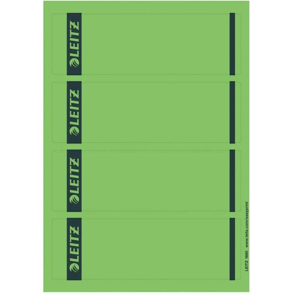 Leitz Rückenschild breit/kurz grün Nr. 1685-20-55 PA 100St sk bedruckbar