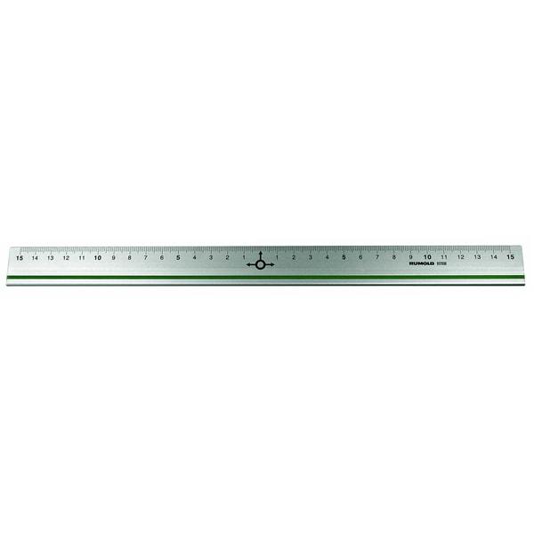 Rumold Lineal 30cm Aluminium Null-Punkt Nr. 937030 metrische Teilungrutschfest