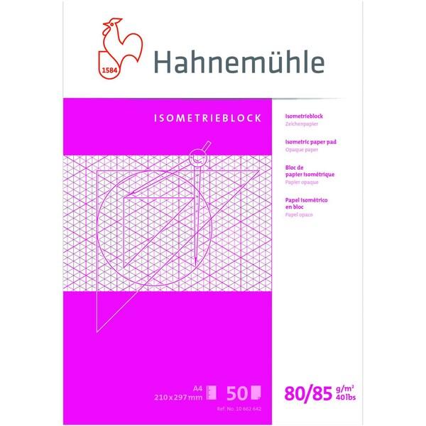 Hahenmühle FineArt Isometrieblock 10662642 DN A4 rautiert 50Bl.
