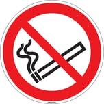 Hinweisschild Rauchen verboten Durchmesser 10cm Hart-PVC