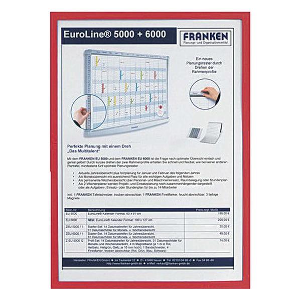 Franken Dokumentenhalter A5 rot Nr. ITSA5M 01 32my magnethaftend
