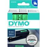 Dymo Schriftbandkassette S0720740 9mmx7m schwarz auf grün40919 D1