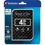 Verbatim Festplatte Store'n'Go 4 TB Nr. 53223 USB 3.0 schwarz