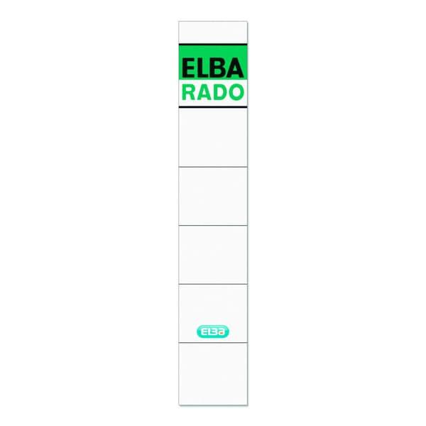 Elba Rückenschild schmal/kurz weiß 100420946 sk PA10Sthandbeschreibbar
