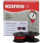 Kores Farbband Gr.51 13mmx4m Seide schwarz/rot