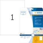 Herma Folien-Etikett 4375 transparent PA 25Stk 210x297mm bedruckbar