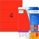 Herma Rückenschild Nr. 10167 rot PA 80Stk breit/kurz Movables ablösbar