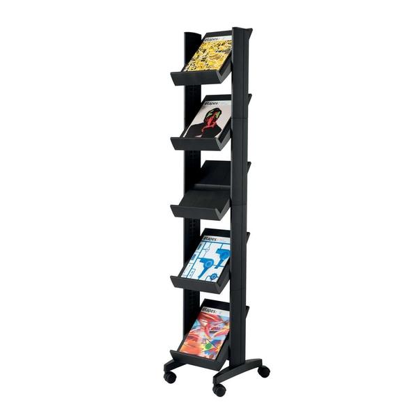 Paperflow Prospektständer Corner schwarz Nr. 259N.01 Easydisplay mobil 5 Fächer