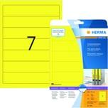 Herma Rückenschild Nr. 5091 gelb PA 140Stk schmal/kurz sk bedruckbar
