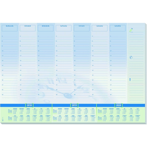 Sigel Schreibunterlage Time Papier Nr. HO350 595X41cm 30Blatt mit Folie