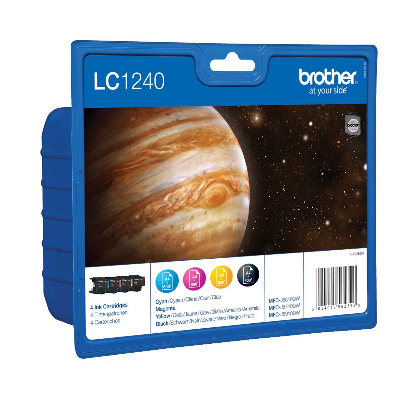 Brother Tintenpatrone LC1240 Set BK/C/M/Y PA4St
