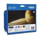 Brother Tintenpatrone LC1100 Set BK/C/M/Y PA=4St