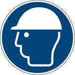Hinweisschild Kopfschutz benutzen ISO 7010/M014