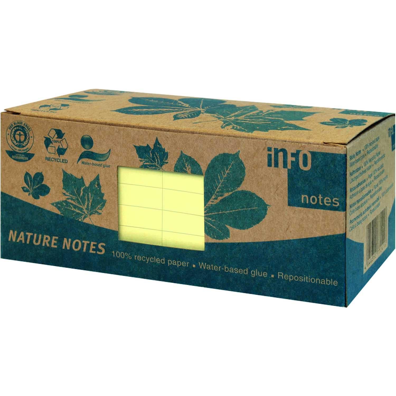 Print Inform Haftnotiz 75x75mm gelb Nr. 5654-11box 12 Block à 100 Blatt