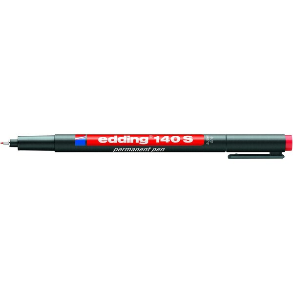 Edding Folienschreiber 140 S rot Strichstärke ca. 03mm permanent