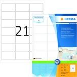 Herma Adress-Etiketten Nr.4677 weiß PA 2.100 Stk 635 x 381mm bedruckbar