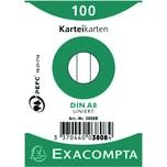 ExacomPTA Karteikarte A8 liniert weiß Nr. 3808B PA= 100 Stück