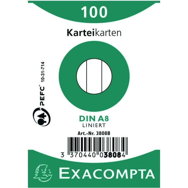 Exacompta Karteikarte A8 Nr. 3808B PA= 100 Stück