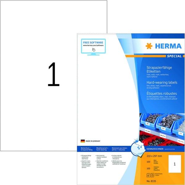 Herma Folien-Etikett Nr. 8335 weiß PA 100Stk 210x297mm