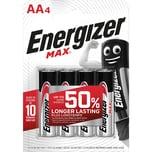 Energizer Batterie Max AA Mignon Nr. E301530700. 1.5V. LR6. PA= 4Stk