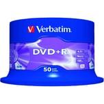 Verbatim DVD+R 47GB 120Min 16x Scratch Resistant Nr. 43550 50er Spindel