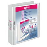 VELOFlex Präsentationsringbuch Velodur Nr. 1138190 2 Ringe A4 60mm weiß