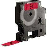 Dymo Schriftbandkassette S0720570 12mmx7m schwarz auf rot45017 D1