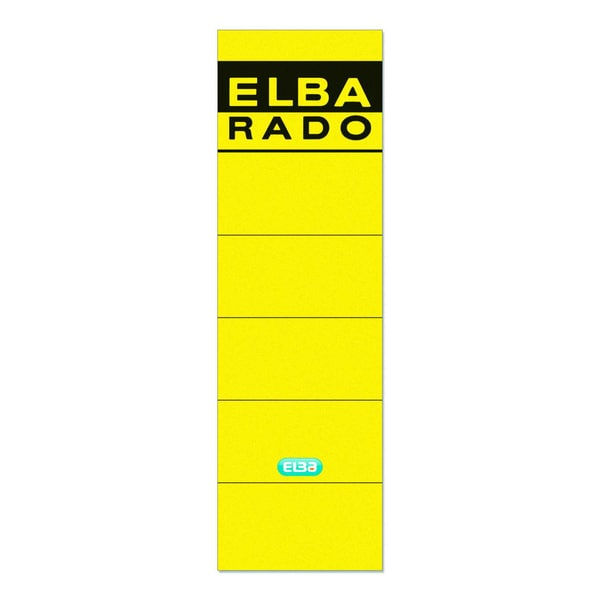 Elba Rückenschild breit/kurz gelb 100420949 sk PA 10Sthandbeschreibbar