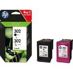 HP Tintenpatrone 302 X4D37AE sw+c/m/y 2 St./Pack.
