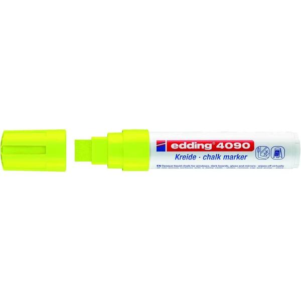 Edding 4090 Windowmarker neongelb Keilspitze Strichstärke ca. 4-15mm