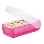 HAN Karteibox A8 998-663 Croco Kunststoff transluzent pink