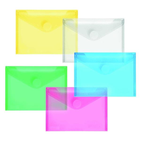 FolderSys Sichttasche A6 quer PP mat Nr. 40116-94 PA 10St sortiertKlettv.