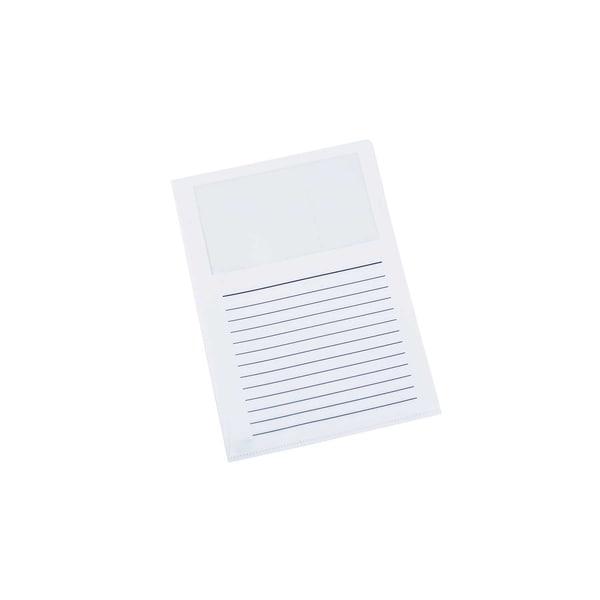 proOffice Sichthülle A4 mit Fenster weiß 11118866-001 PP 10 St. oben/seitl.offen