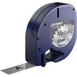 Dymo Schriftbandkassette LetraTag S0721730 12mmx4m schwarz auf silber