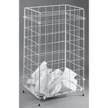 Fripa Objektpapierkorb 1 Fach Draht weiß Nr. 2340013. für Papierhandtücher