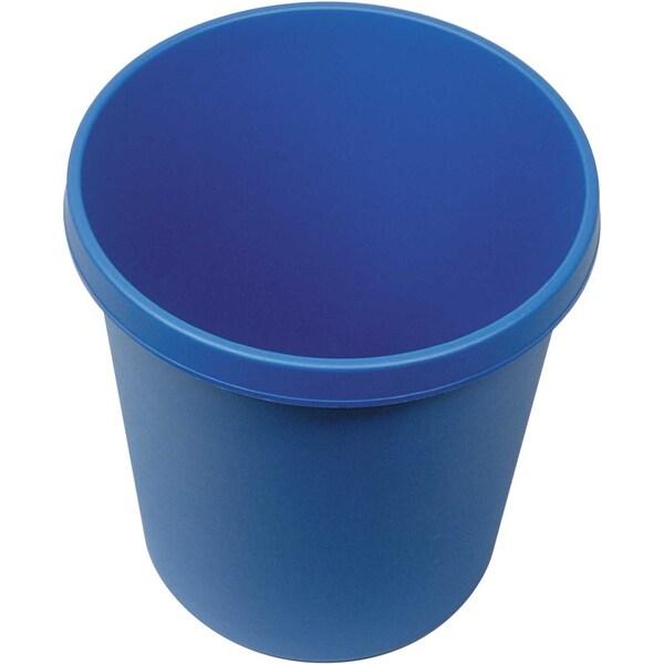 Helit Papierkorb blau 18 Liter Nr. H6105834 mit Griffrand Höhe 32cm