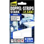 Uhu Doppelstrips extra stark weiß Nr. 45380 PA 16 Stück 31x26mm
