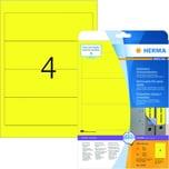 Herma Rückenschild Nr. 10166 gelb PA 80Stk breit/kurz Movables ablösbar