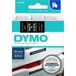 Dymo Schriftbandkassette S0720910 19mmx7m weiß auf schwarz45811 D1