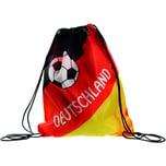 Matchbeutel Deutschland 35x42cm sw rt ge Druck Fußball Deutschland