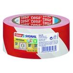 tesa Signalklebeband 50mm x 66m Nr. 58134 bedruckt rot weiß