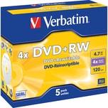 Verbatim DVD+RW 4.7GB 120Min 4x Nr. 43229 PA 5St im Jewel Case