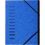 Pagna Ordnungsmappe A4 12 Fächer blau Nr. 40059-02 Karton 1-12 280g/m²
