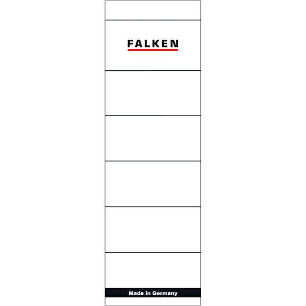 Falken Rückenschild breit/kurz weiß 80037047 PA 10St sk handbeschreibbar